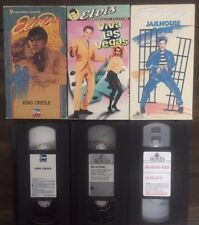 KING CREOLE VIVA LAS VEGAS JAILHOUSE ROCK Lot of 3 ELVIS PRESLEY VHS 6316