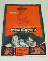 THE RIDE BACK! 1957 Movie Film PRESSBOOK Anthony Quinn