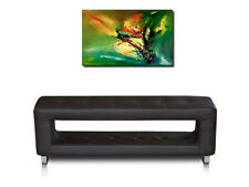 Small Narrow Leather Seating Bench for the Corridor Hall 100x41x30 cm Dark Brown
