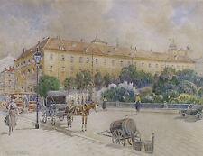 Franz BRENNER (1873-1945)  Motiv aus Wien:  Stubentor + Studie.