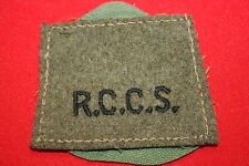ORIGINAL WW2 ROYAL CANADIAN CORPS SIGNALS ARMY SLIP ON TITLE  BADGE