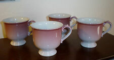 """Set of (4) Mikasa Stone Lustre """"Peach"""" Footed Cups - DL200 - Made in Japan"""