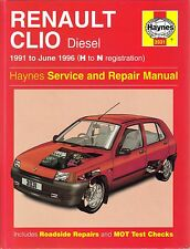 Haynes Manual (3031) Renault Clio Diesel 1991 to 1996