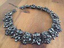 Beautiful Brand New Grey/Silver Zara Statement Necklace/Bib/Choker Wedding