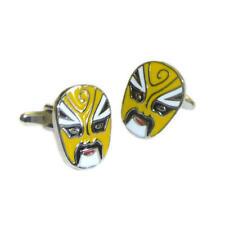 Lucha Libre Mexican Wrestler Mask Yellow Cufflinks & Gift Pouch