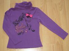~** C&A **~** Shirt mit Rollkragen **~** Gr. 122 **~** lila **~** Pferd **~