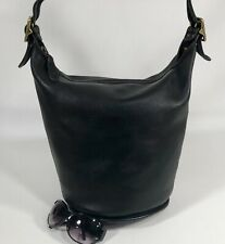 NICE Vintage COACH Black LARGE BUCKET DUFFLE BAG HANDBAG PURSE #9085