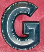 "Letter ""G"" Blue Dimensional Decorative Art Wall Hanging Hard Plastic Composition"