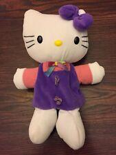 Hello Kitty Sanrio JAKKS Plush Hand Puppet Flying Colors Toys Purple Bow 1999