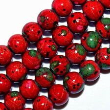 MAGNETIC HEMATITE BEADS PICASSO RED PINK GREEN BLACK COLORS BEAD STRAND 6MM MP1