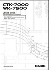 Casio CTK-7000 / WK-7500 Keyboard Owner's Manual -- Users Guide