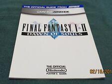 GBA - Final Fantasy I II Dawn of Souls ~ Brand New Nintendo Power Strategy Guide