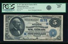 New listing Ac 1882 Db $5 State National Bank of St. Louis, Missouri ch# 5172 Pcgs 25