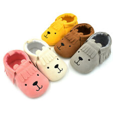 Newborn Baby Toddler Infant Girls Boys Shoe Bear Tassle Soft Anti-slip Shoes