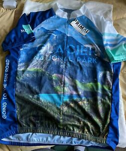 Glacier National Park Going to the Sun Road Cycling Jersey Size XL New w/ Tags