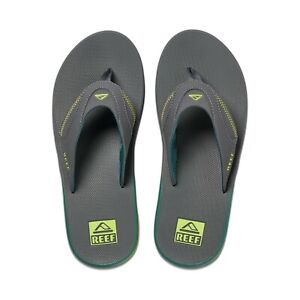 REEF MENS FLIP FLOPS. FANNING GREY RUBBER SOLE ARCH SUPPORT THONGS SANDALS S21