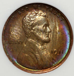 1911-D Lincoln Cent NGC MS66RB Gorgeous Rim Toning