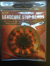ESP CARP FISHING LEADCORE STOP BEADS CAMO BROWN