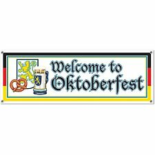 Beistle 57643 Welcome to Oktoberfest Sign Banner, 5-Feet by 21-Inch