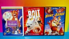 Home on the Range, Bolt, The Aristocats - Disney Movie DVD Lot Bundle Special