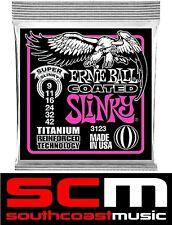 SUPER SLINKY TITANIUM 3123 ERNIE BALL ELECTRIC GUITAR STRINGS STRING SET 09-42