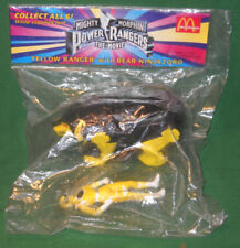 MMPR 1995 Power Rangers Yellow Ranger, Bear Ninjazord McDonalds Toy Sealed Pkg