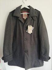 Baracuta Trench Coat Light Padding Charcoal Size 40 50% Wool