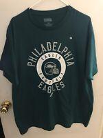 PHILADELPHIA EAGLES T-SHIRT MEN'S XL Green NFL TEAM APPAREL LOGO FOOTBALL New