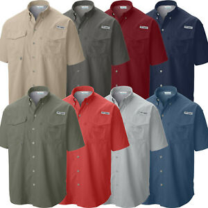 "New Mens Columbia PFG ""Bahama II"" Omni-Shade Vented Short Sleeve Fishing Shirt"