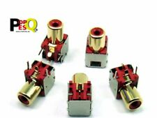 POPESQ - X RCA socket 1 pin PCB red gold plated Shielded 2143