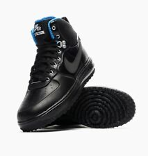 RARE NIKE LUNAR FORCE 1 SNEAKERBOOT TRAINERS, UK9, BLACK/BLUE/SILVER, 654481003