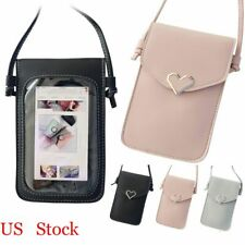 Touch Screen Cell Phone Cross-body Wallet Shoulder Bag Leather Pouch Case US Hot