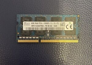 SK HYNIX 8GB DDR3 Laptop Memory PC3-12800S 1600Mhz RAM (1x8GB SODIMM)