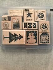 Stampin Up 2007 Perfect Presentation Set Of 11 Wood Mounted Rubber Stamp Su