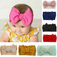 Toddler Girls Baby Big Bow Headband Hairband Stretch Turban Knot Head Wrap HOT