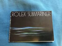 Authentic Rolex Submariner Booklet From 1981 German