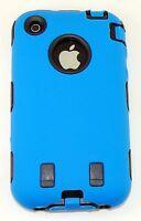 Body Armor Hybrid Shell Case Cover for Apple iPhone 3G / 3GS - Blue & Black New
