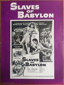 SLAVES OF BABYLON, Richard Conte, Linda Christian, 1953, Pressbook #695