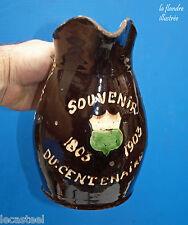 tara - pichet à vin vaudois en terre vernissée - centenaire suisse 1803 - 1903