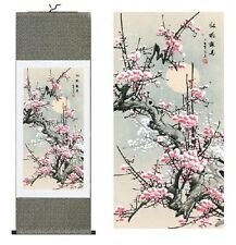 Home decor Chinese Traditional Silk Scroll Painting Plum Blossom Office