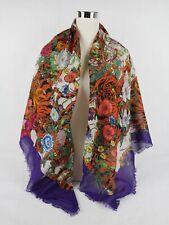 Gucci Multi-color Cotton Tiger Floral Print Square Scarf Shawl 499243 9270