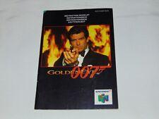Nintendo 64: Manual de instrucciones de Golden Eye 007 (UK version)