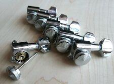 Lock Wilkinson 6R Chrome Guitar Locking Tuners JN-07 SP Fits Fender Strat Tele