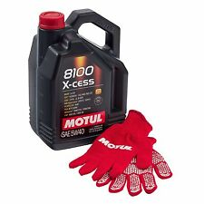 Motul 8100 X-Cess 5W40 100% Synthetic Car/Auto Engine Oil, 5 L/ 5 Litres