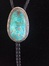 TURQUOISE NAVAJO INDIAN BOLO COLLECTIBLES, NATIVE AMERICAN