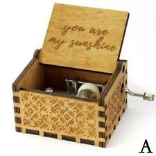 Wooden Music Box Mom/Dad To Daughter You Are My Sunshine Engraved Gift Toy D1T2