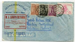 Angola airmail cover Luanda to Rebstein 21.10.1947 - see scans