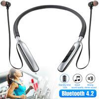 Bluetooth Neckband Headset Wireless Earphone Headphone Mic For iPhone LG Samsung