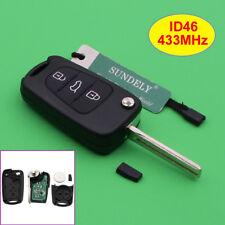 Flip Folding Remote Key for Hyundai i30 ix35 Car Key Fob 433MHz ID46 Chip 3 BTN