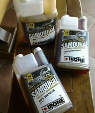 bidon doseur 1 litre d Huile samouraï 100 % synthèse 2 temps  Ipone